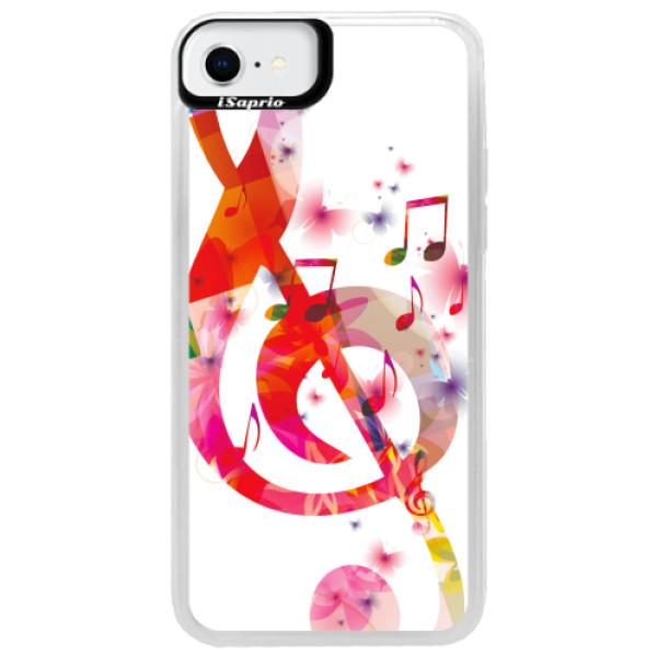 Neonové pouzdro Blue iSaprio - Love Music - iPhone SE 2020