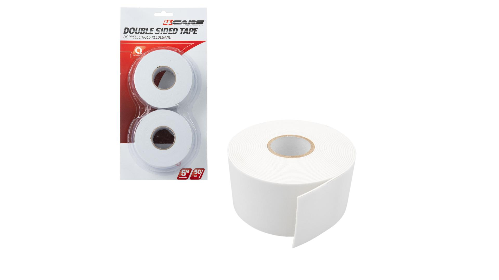 4CARS 2-piece set of Double sided tape, 50mm x 5m
