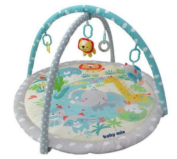 BABY MIX Vzdělávací hrací deka - Sloník a přátelé