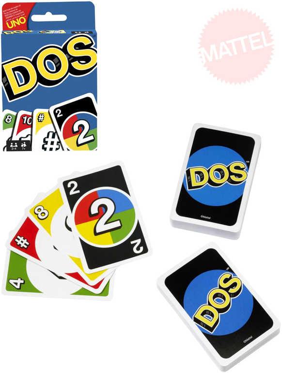 MATTEL Hra karetní Uno DOS *SPOLEČENSKÉ HRY*