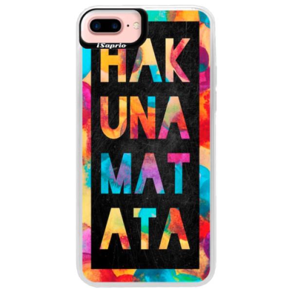 Neonové pouzdro Pink iSaprio - Hakuna Matata 01 - iPhone 7 Plus