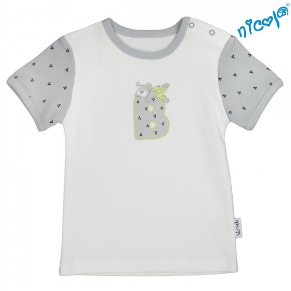 Kojenecké bavlněné tričko Nicol, Boy - krátký rukáv