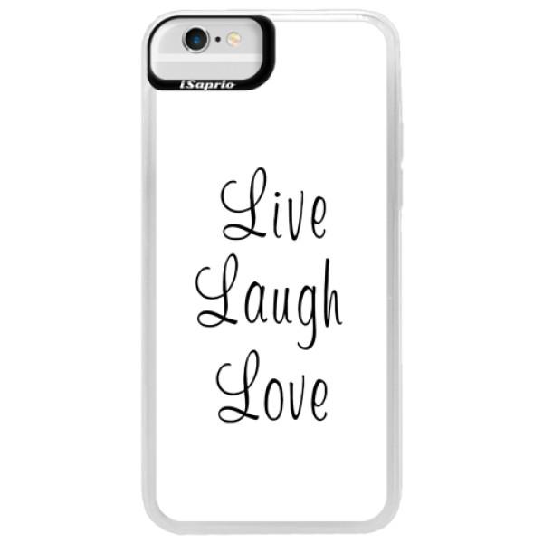 Neonové pouzdro Blue iSaprio - Live Laugh Love - iPhone 6/6S