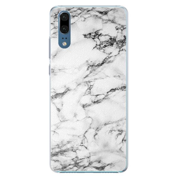 Plastové pouzdro iSaprio - White Marble 01 - Huawei P20