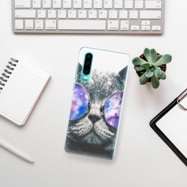 Plastové pouzdro iSaprio - Galaxy Cat - Huawei P30