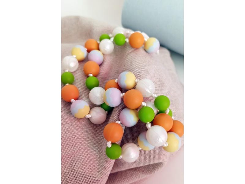 MIMIKOI - Kojící korále barevné kuličky pestré