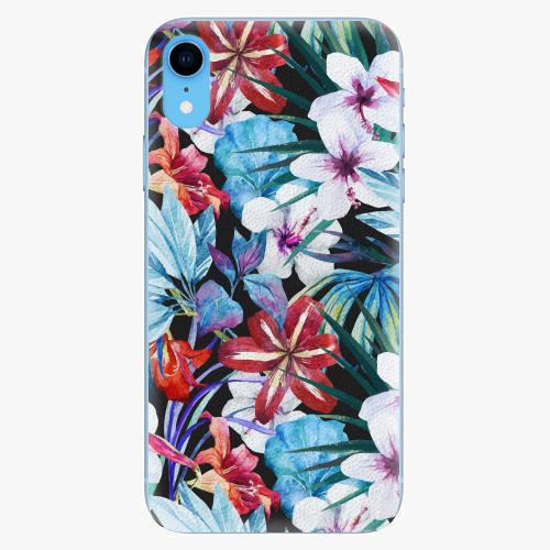 Silikonové pouzdro iSaprio - Tropical Flowers 05 - iPhone XR