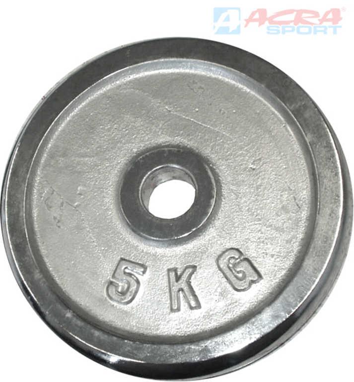 ACRA Chromový kotouč (závaží na činky) 1x 5kg 30mm