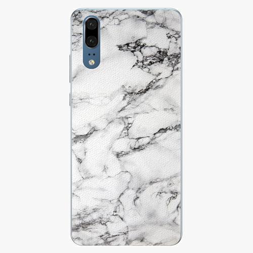 Silikonové pouzdro iSaprio - White Marble 01 - Huawei P20