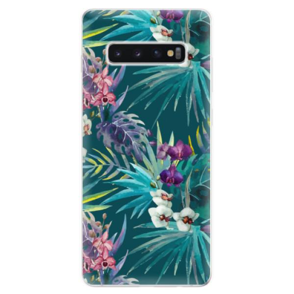 Odolné silikonové pouzdro iSaprio - Tropical Blue 01 - Samsung Galaxy S10+