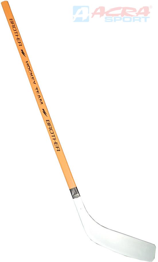 ACRA Hokejka plastová 95cm rovná lopatka Brother dřevěná žerď