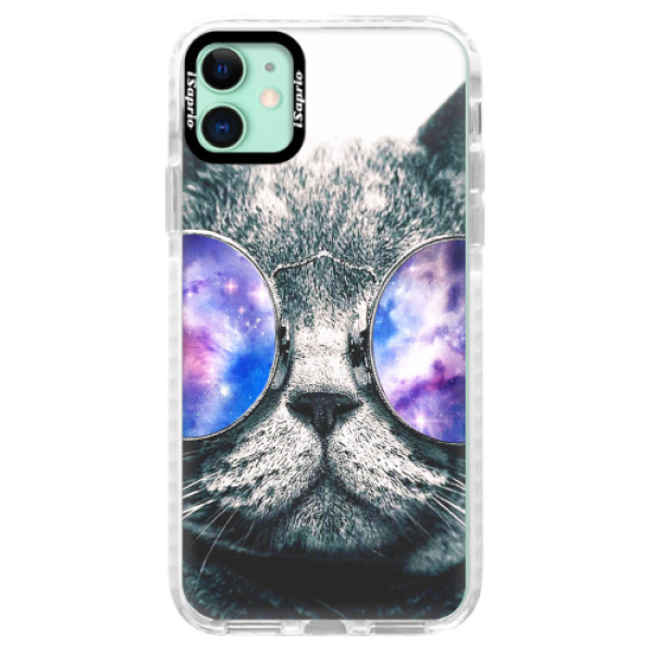 Silikonové pouzdro Bumper iSaprio - Galaxy Cat - iPhone 11