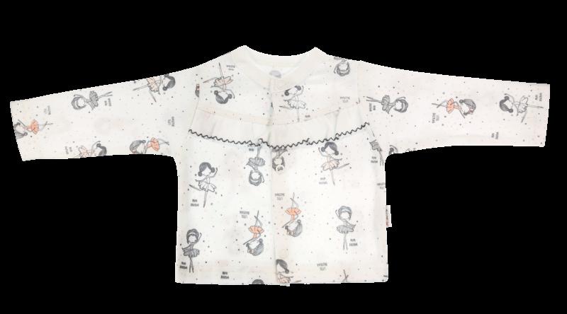 Mamatti Bavlněná košilka Baletka - bílá, vel. 74 - 74 (6-9m)