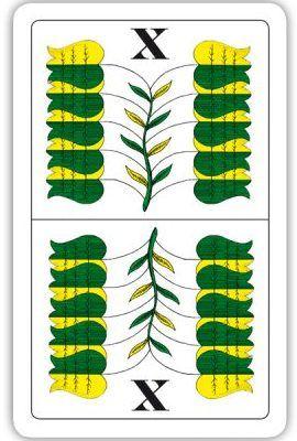 Modiano Belot dvouhlavé mariášky 100% plast - zelené