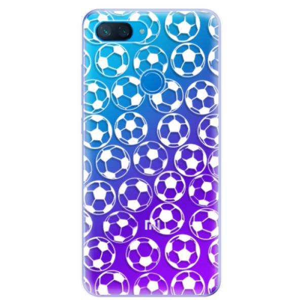 Odolné silikonové pouzdro iSaprio - Football pattern - white - Xiaomi Mi 8 Lite