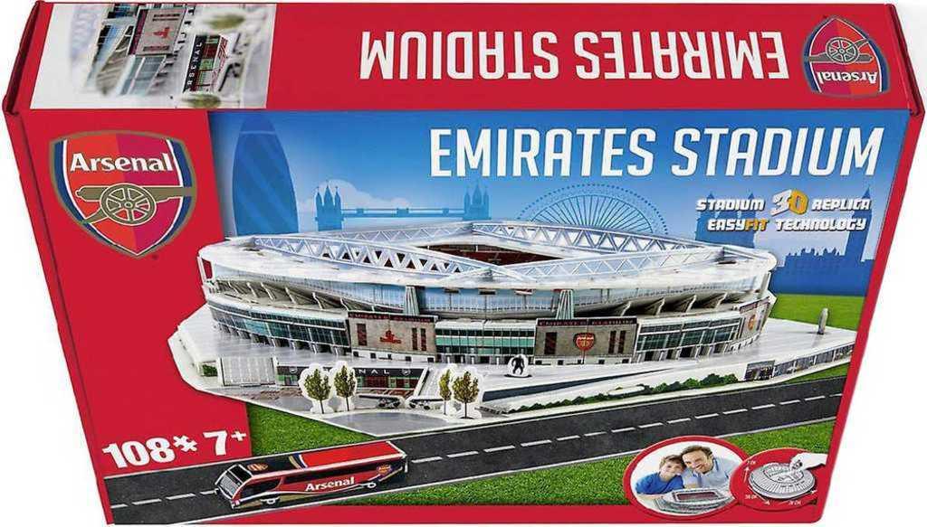 NANOSTAD 3D Puzzle model fotbalový stadion FC Arsenal anglie 108 dílků