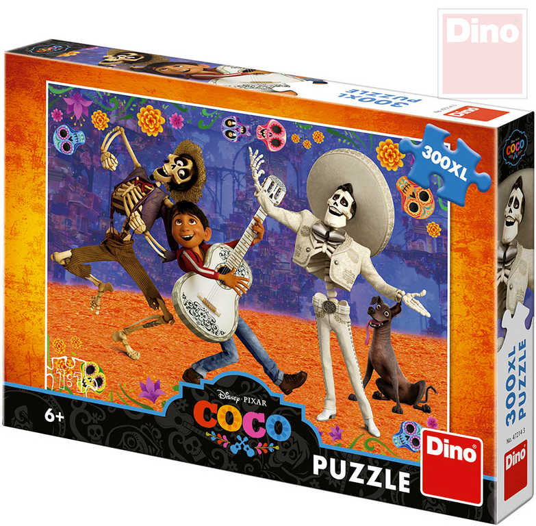 DINO Puzzle XL 300 dílků Coco Splněný sen 47x33cm skládačka v krabici