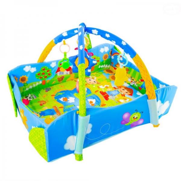 Vzdělávací hrací deka Tulimi Farma 3 v 1 s polštářem