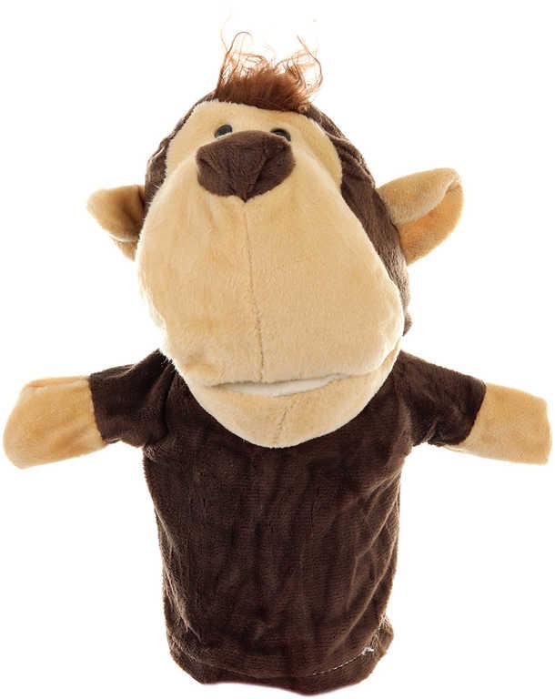 PLYŠ Maňásek zvířátko opice 24cm na ruku *PLYŠOVÉ HRAČKY*