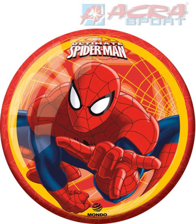 ACRA Míč potištěný Mondo Spiderman Hero 23cm červený