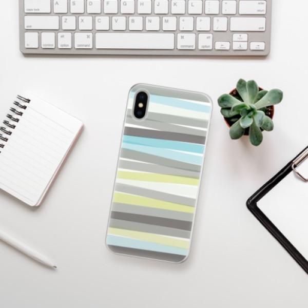 Silikonové pouzdro iSaprio - Stripes - iPhone X