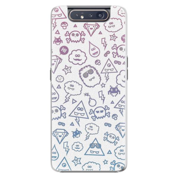 Plastové pouzdro iSaprio - Funny Clouds - Samsung Galaxy A80