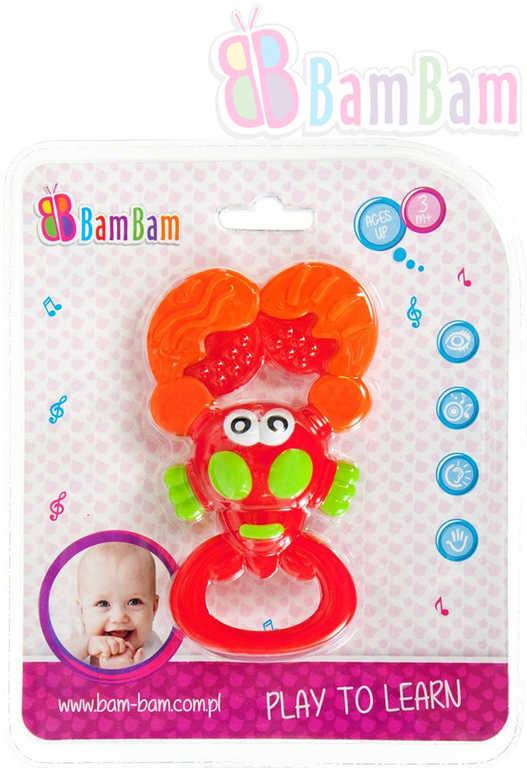 ET BAM BAM Baby chrastítko krevetka na kartě pro miminko