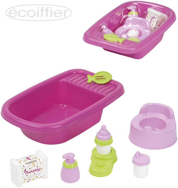 ECOIFFIER Baby kojenecký set vanička s nočníkem a doplňky pro panenku miminko