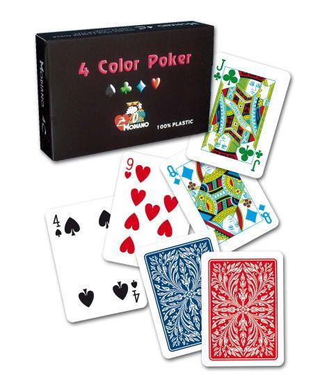 Modiano 2 rohy 100% plastové karty RAMINO 4 COLOR
