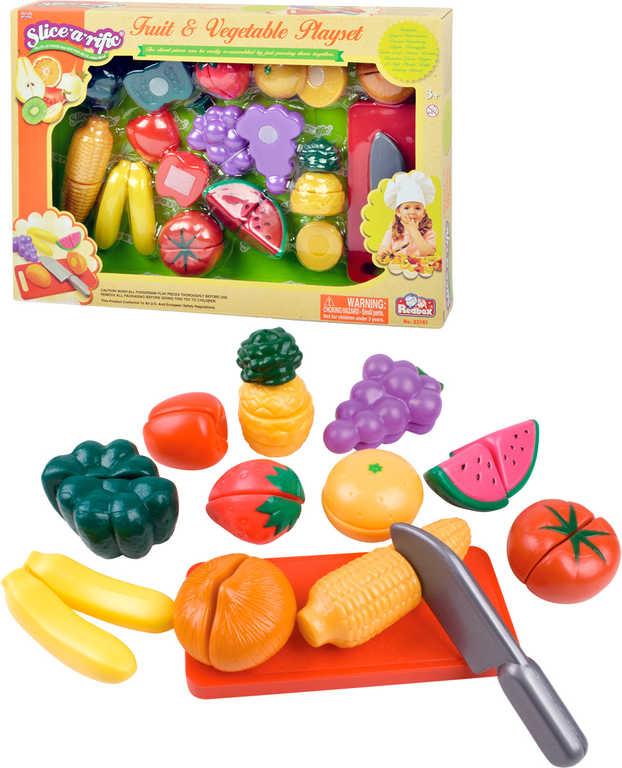 Sada kuchyňská krájecí zelenina a ovoce na suchý zip s doplňky plast
