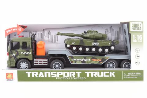 Vojenský kamion s tankem na baterie