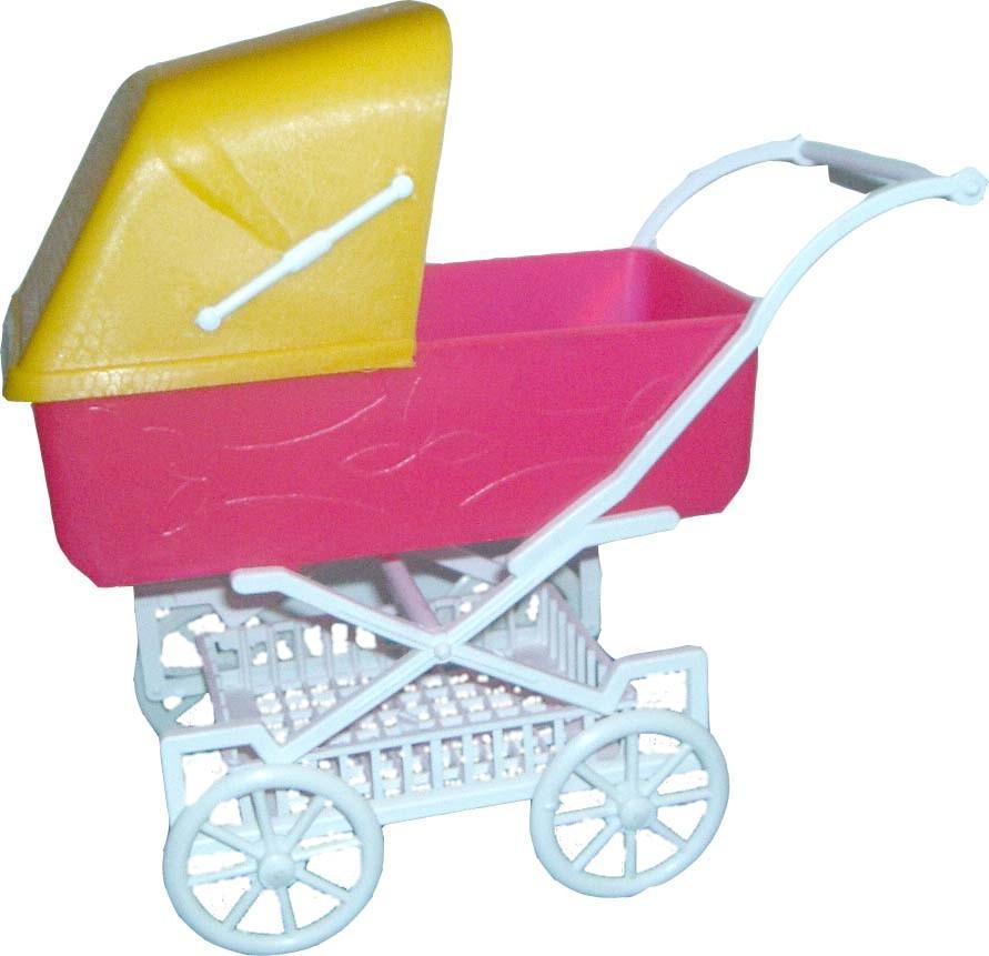 Pl Kočárek malý hluboký plastový pro mini panenku různé barvy