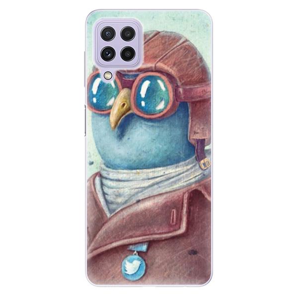 Odolné silikonové pouzdro iSaprio - Pilot twitter - Samsung Galaxy A22