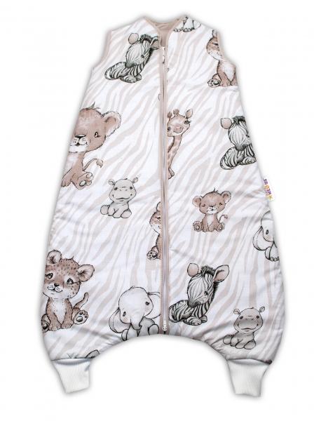 Baby Nellys, Spací vak s nohavičkami ZOO, 90 cm - béžový