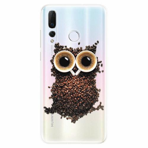 Silikonové pouzdro iSaprio - Owl And Coffee - Huawei Nova 4