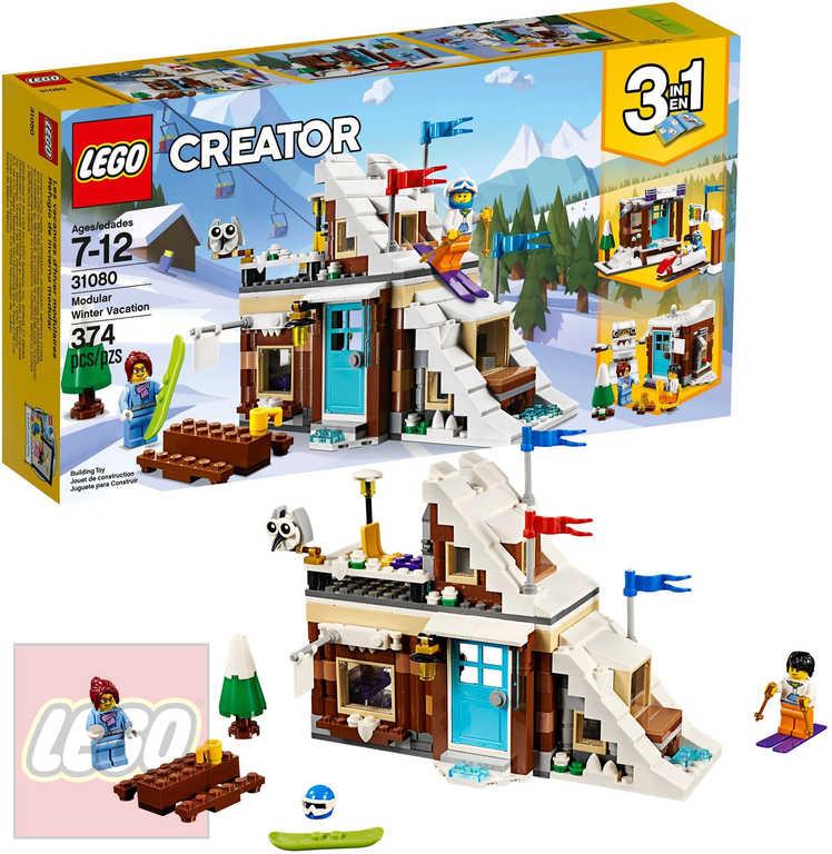 LEGO CREATOR Zimní prázdniny STAVEBNICE 3v1 31080
