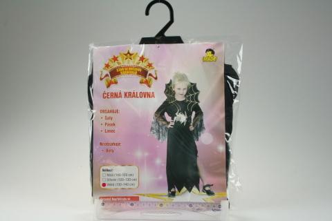 Šaty Černá královna 120-130cm