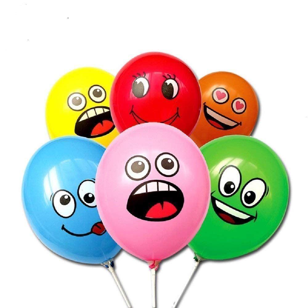 Balónky s obličejem - 10 ks