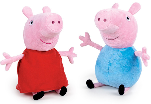 PLYŠ Prasátko Peppa Pig / George 20cm 2 druhy *PLYŠOVÉ HRAČKY*