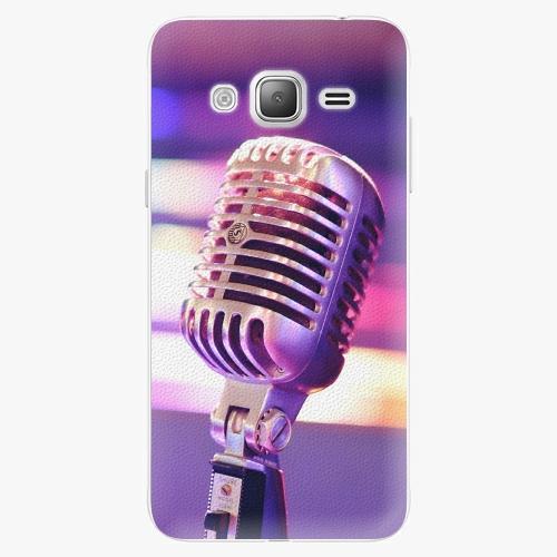 Plastový kryt iSaprio - Vintage Microphone - Samsung Galaxy J3 2016