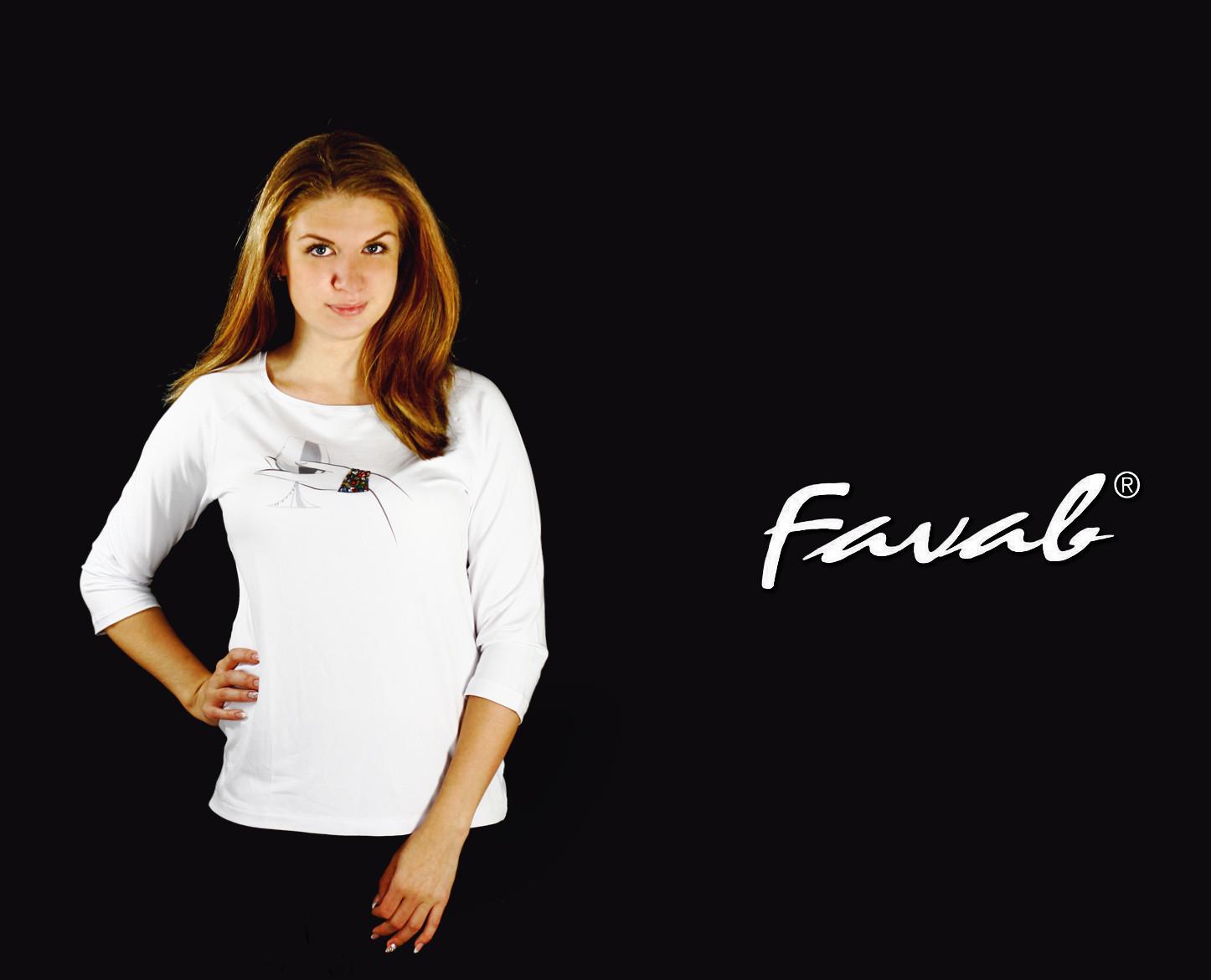 Dámské triko Alenka - Favab - Bílá/XL