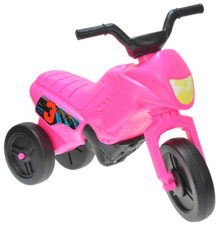 MAD Baby odrážedlo ENDURO růžové odstrkovadlo 55x28x40cm motorka plast