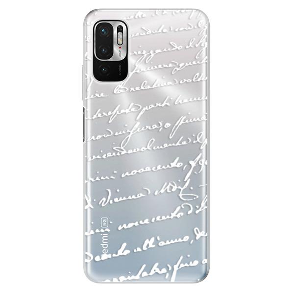 Odolné silikonové pouzdro iSaprio - Handwriting 01 - white - Xiaomi Redmi Note 10 5G
