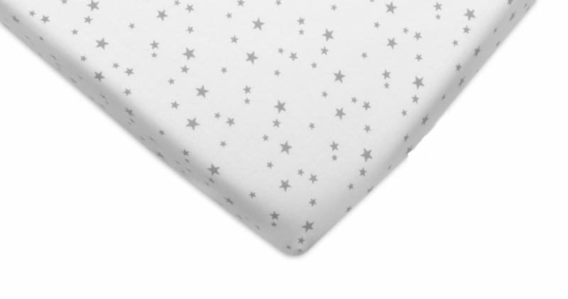 Bavlněné prostěradlo 60x120cm - Mini hvězdičky šedé - 120x60