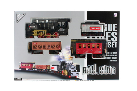 Vlaková sada kouřící lokomotiva velká
