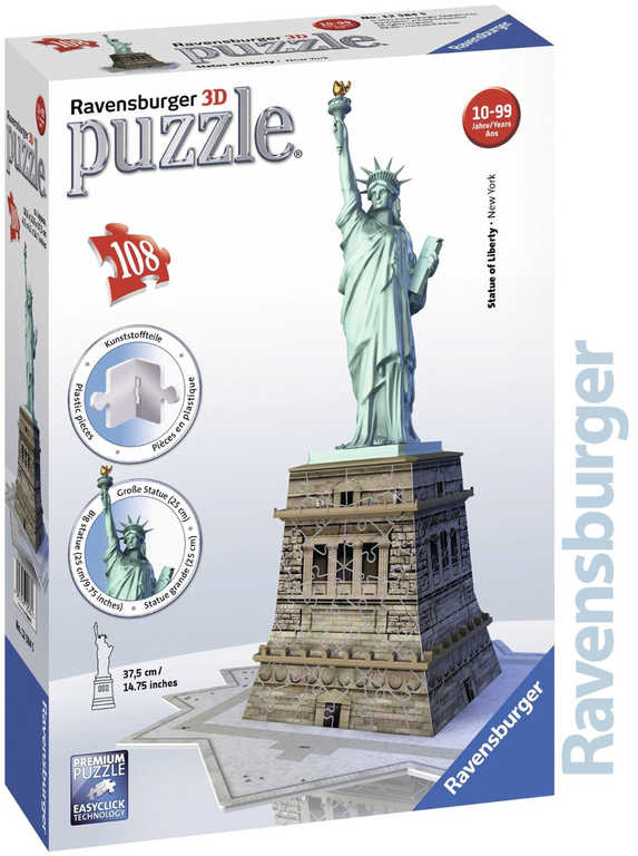 RAVENSBURGER Puzzle 3D Socha Svobody 108 dílků