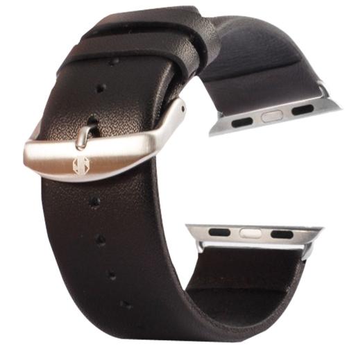 Kožený pásek / řemínek Kakapi pro Apple Watch 42mm černý