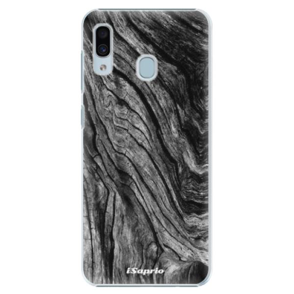 Plastové pouzdro iSaprio - Burned Wood - Samsung Galaxy A20