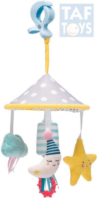 TAF TOYS Baby kolotoč na kočárek měsíček pro miminko plyš