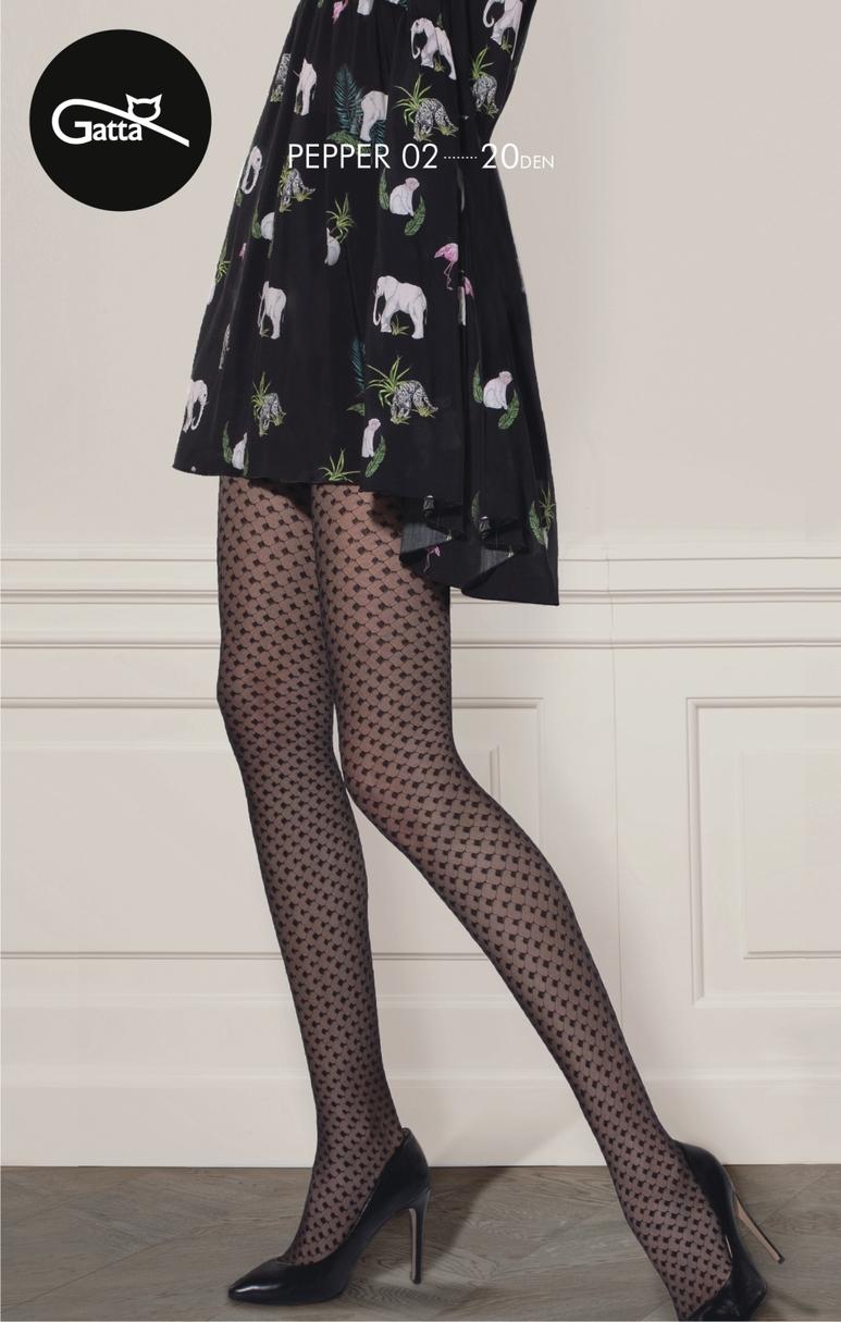 Vzorované dámské punčochové kalhoty PEPPER 20 DEN.